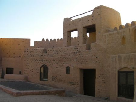 inside of a restored 300 year old fort