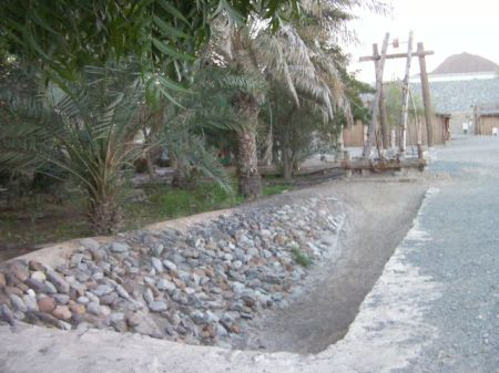 model of well and date palm watering system