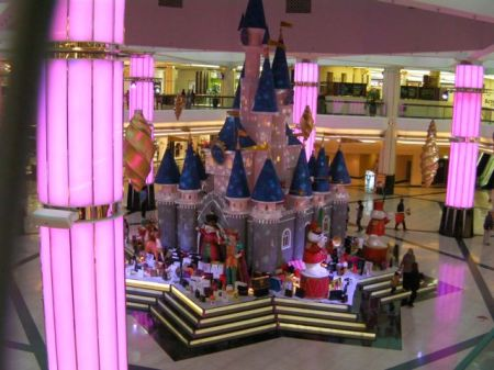 holiday castle mall display