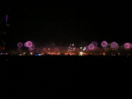 fireworks on the Palm Jumeirah island