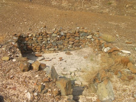 stone foundation of a khaimah house