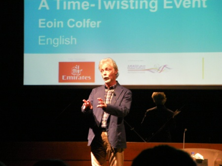 Eoin Colfer on stage