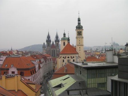 view of Prague from a rooftop