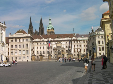 main entrance to the Prague castle
