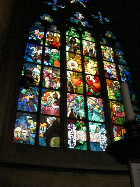 stained glass cathedral window