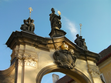 entrance gate to the Strahov monastery