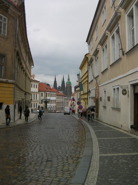 cobblestone lane