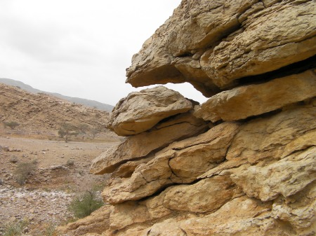 weathered rock formation