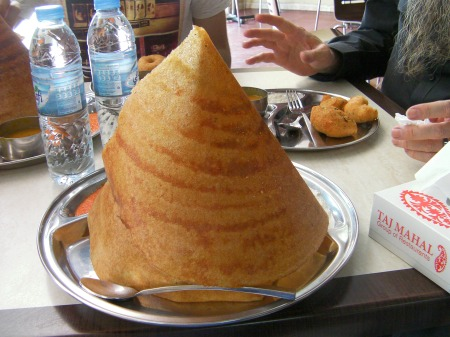 cone shaped crisp flat bread