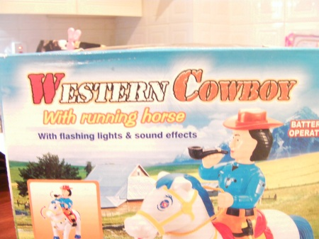 plastic cowboy toy packaging