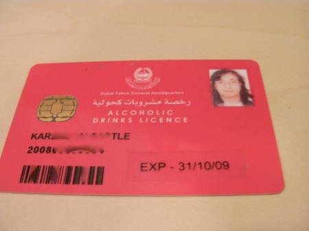 Alcohol License
