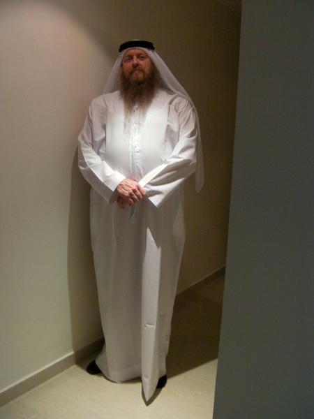 man in Arab garb