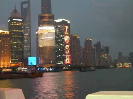 Shanghai skyscrapers seen from the river