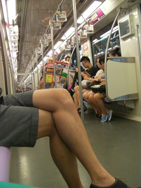 uncrowded metro train