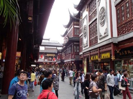 busy pedestrianized street