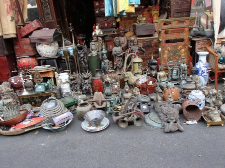 display of various items for sale
