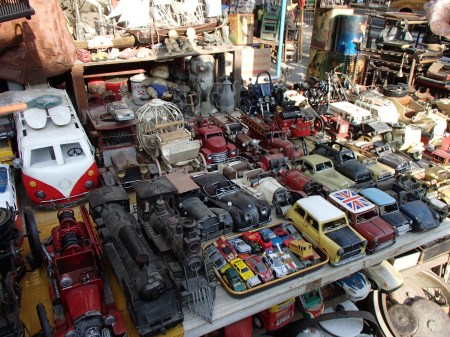 a variety of toys cars