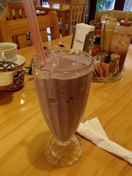 purple milk shake