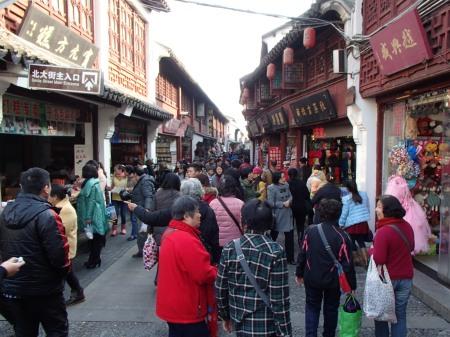 crowded pedestrianized lane