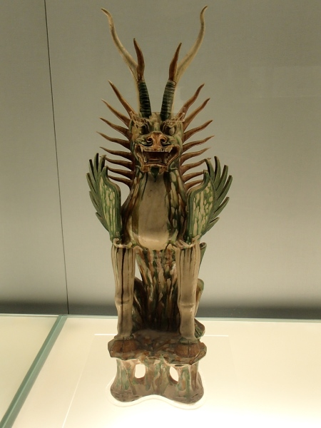 dragon like ceramic statue