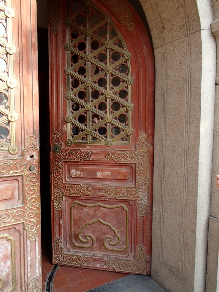 art deco style door in old Shanghai municipality building