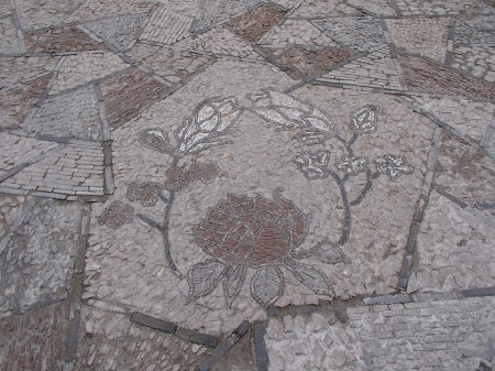 mosaic of lotus blossoms