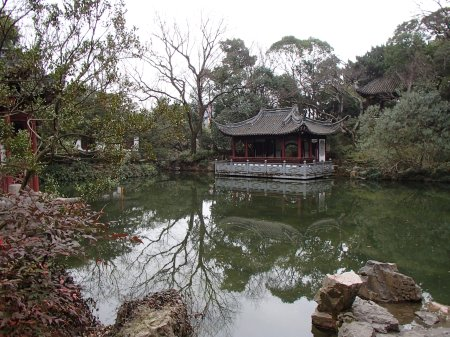 oriental garden and lake