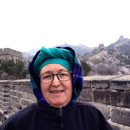 author on the Great Wall