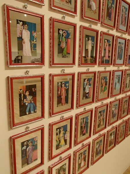 displayed color photographs of Indian girls