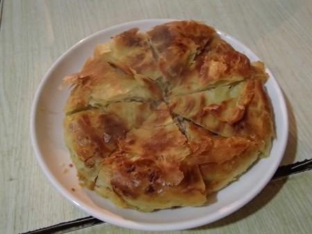 round flaky pastry
