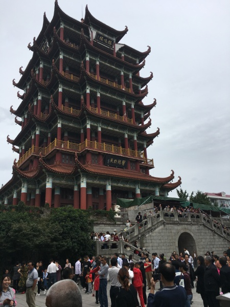 five story high square Chinese tower
