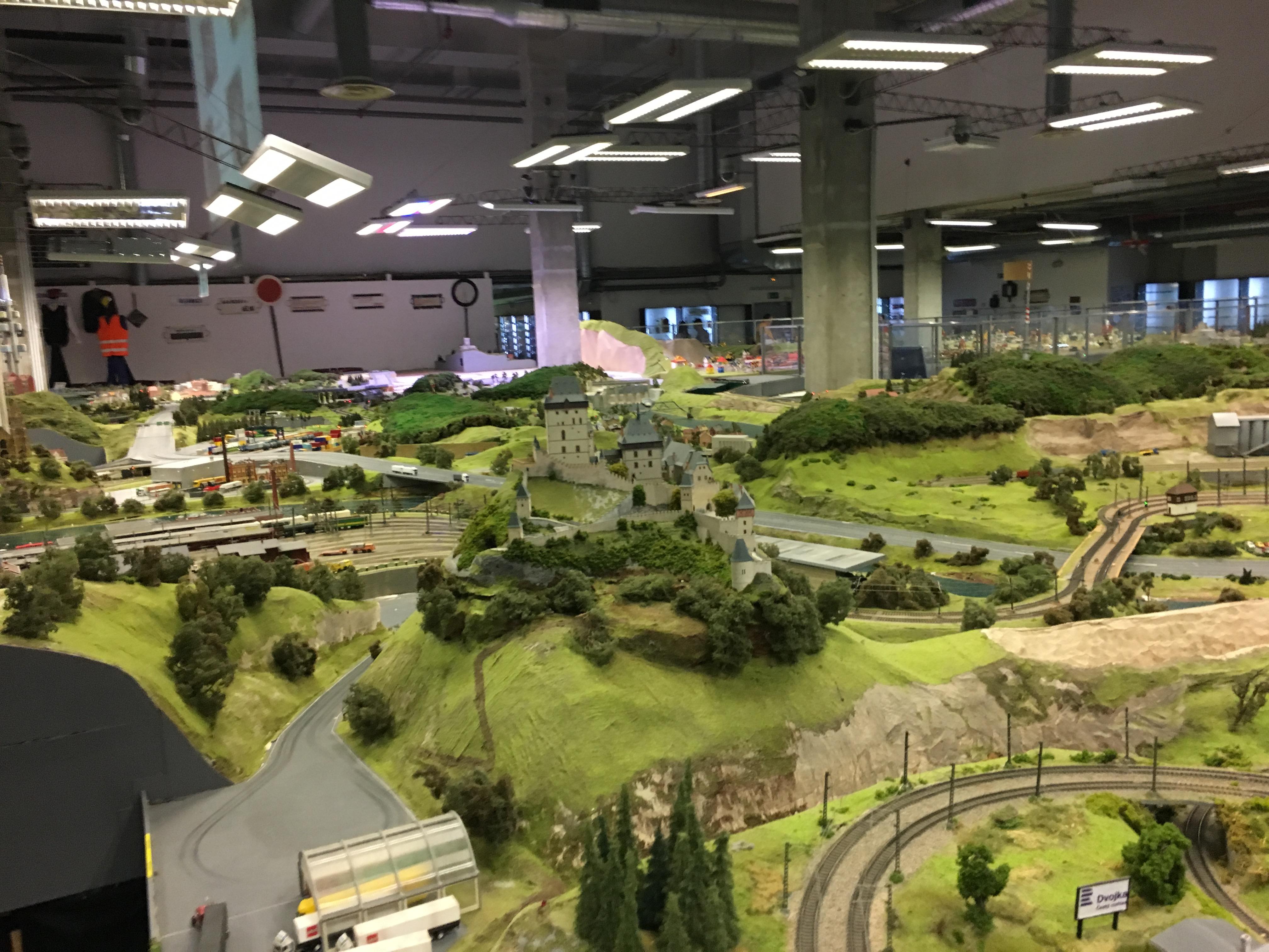 large model railroad display