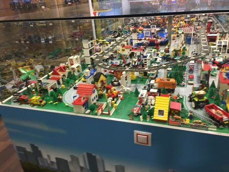 LEGO city layout display