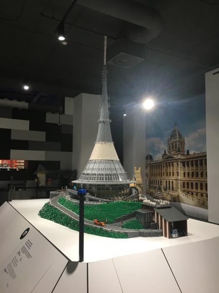LEGO model of Ještěd Hotel