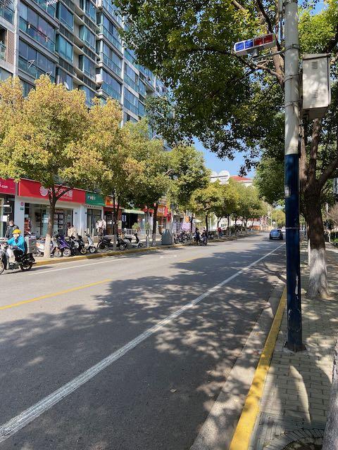 sunny day, empty street