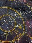 Star constellations print fabric